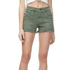 Good American High Waist cutoff shorts